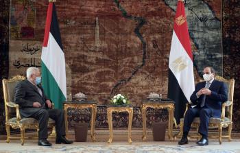 بدء اجتماع قمة بين الرئيس عباس ونظيره المصري