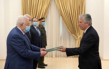 الرئيس يتقبل أوراق اعتماد ممثل البرازيل لدى فلسطين
