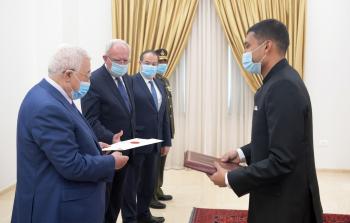 الرئيس يتقبل أوراق اعتماد ممثل الهند لدى فلسطين