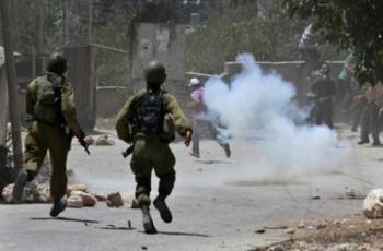 نابلس: 21 إصابة خلال مواجهات مع الاحتلال