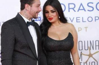 شاهد..أول ظهور لأحمد الفيشاوي وزوجته بعد شائعة انفصالهما