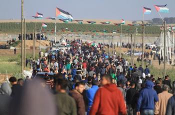 الفلسطينيون يستعدون للمشاركة في جمعة يوم الأسير شرق غزة اليوم