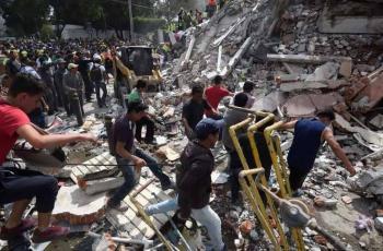 زلزال بقوة 5.7 ريختر يضرب المكسيك