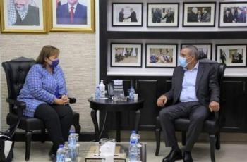 الوزير الشيخ يلتقي ممثلة الاتحاد الأوروبي لعملية السلام في الشرق الأوسط