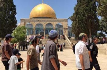 عشرات المستوطنين يداهمون المسجد الأقصى بحراسة مشددة