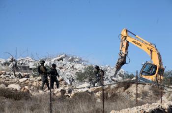 الاحتلال يهدم منزلا في بلدة الخضر جنوب بيت لحم