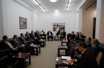 الرجوب يطلع عددا من قادة الأحزاب العراقية على آخر المستجدات السياسية