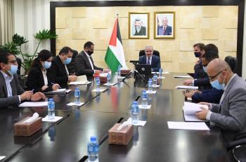 اشتية يترأس اجتماعا لمشروع توفير الغاز لقطاع غزة بحضور أوروبي وقطري