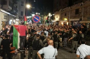 الآلاف يتظاهرون في طمرة بأراضي الـ48 ضد الجريمة وتواطؤ الشرطة
