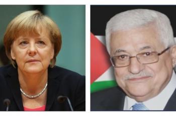 الرئيس يبحث مع ميركل آخر المستجدات على صعيد الساحة الفلسطينية