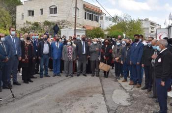 افتتاح المستشفى الميداني لمرضى كوفيد 19 في قاعات منتزه بلدية البيرة