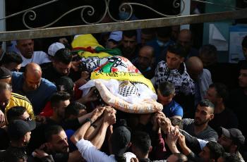 إصابات بمواجهات مع الاحتلال عقب تشييع جثمان الشهيد أسامة منصور