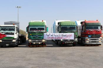 قافلة مساعدات طبية أردنية إلى غزة