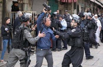 إصابة 4 مواطنين بينهم صحفية إثر قمع الاحتلال مشاركين في مؤتمر صحفي في القدس