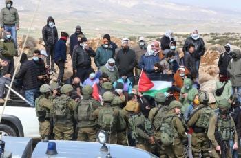 الاحتلال يقمع وقفة منددة بالاستيطان في مسافر يطا جنوب الخليل