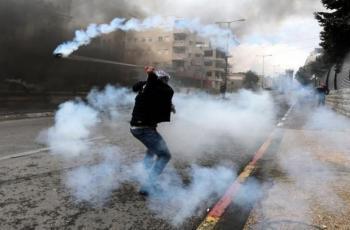 مواجهات مع قوات الاحتلال عند المدخل الشمالي للبيرة