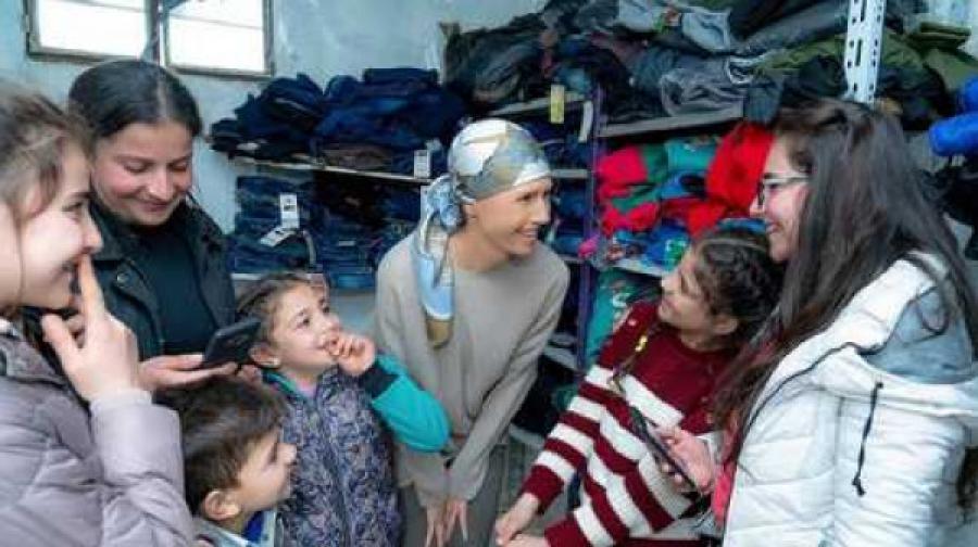 شاهد: ظهور جديد لأسماء الأسد
