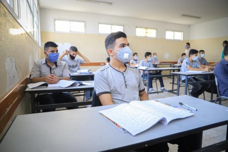 مدارس كورونا غزة قانوية عامة مدرسة.jpg