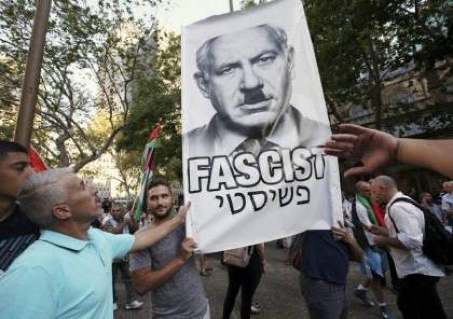 انتقادات كبيرة لمتظاهر إسرائيلي شبّه نتنياهو بهتلر...