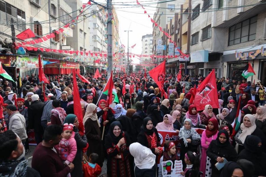 الاحتلال يعتدي على المشاركين في ذكرى انطلاق