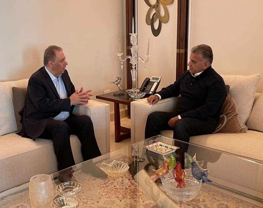 اللواء عباس إبراهيم يلتقي السفير دبور