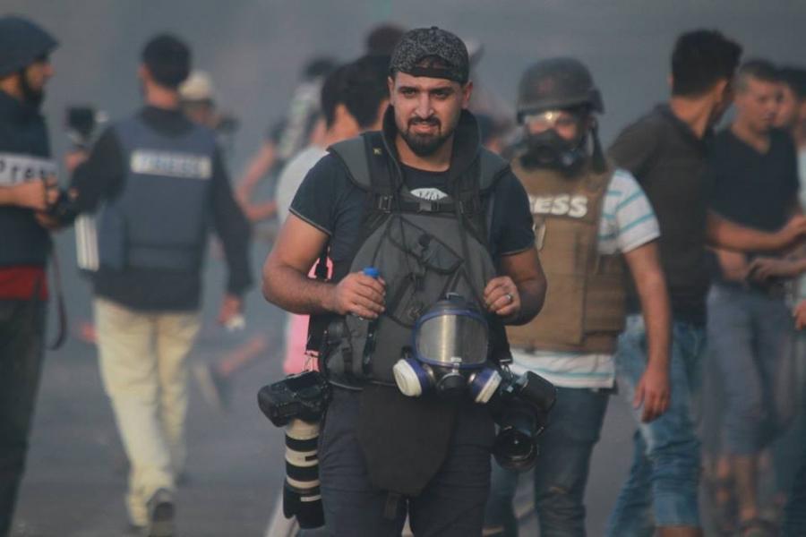إصابات بينها مصوران صحفيان جراء قمع الاحتلال مسيرة كفر قدوم