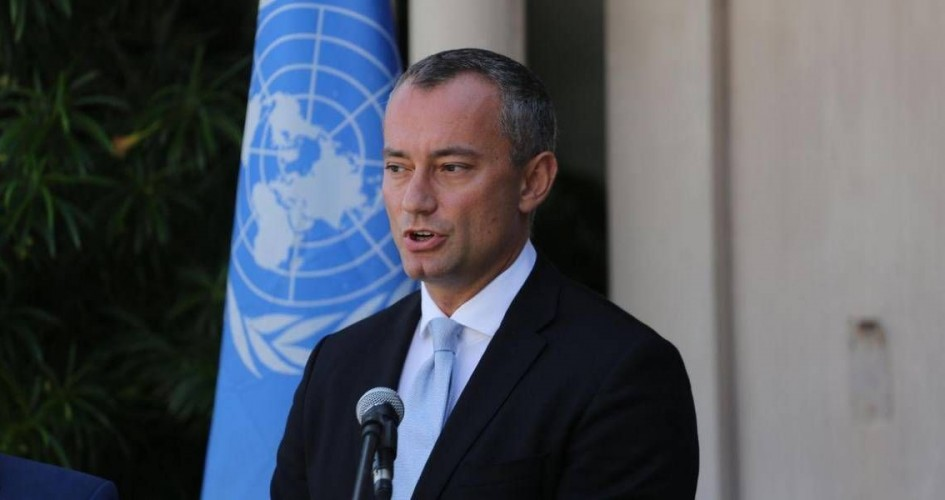ميلادينوف: مهمتنا تثبيت التهدئة وتحسين الوضع الإنساني.