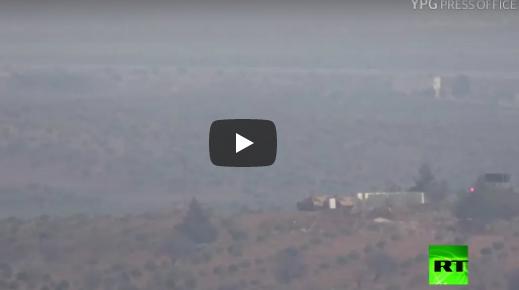 فيديو.. استهداف دبابة تركية في عفرين السورية