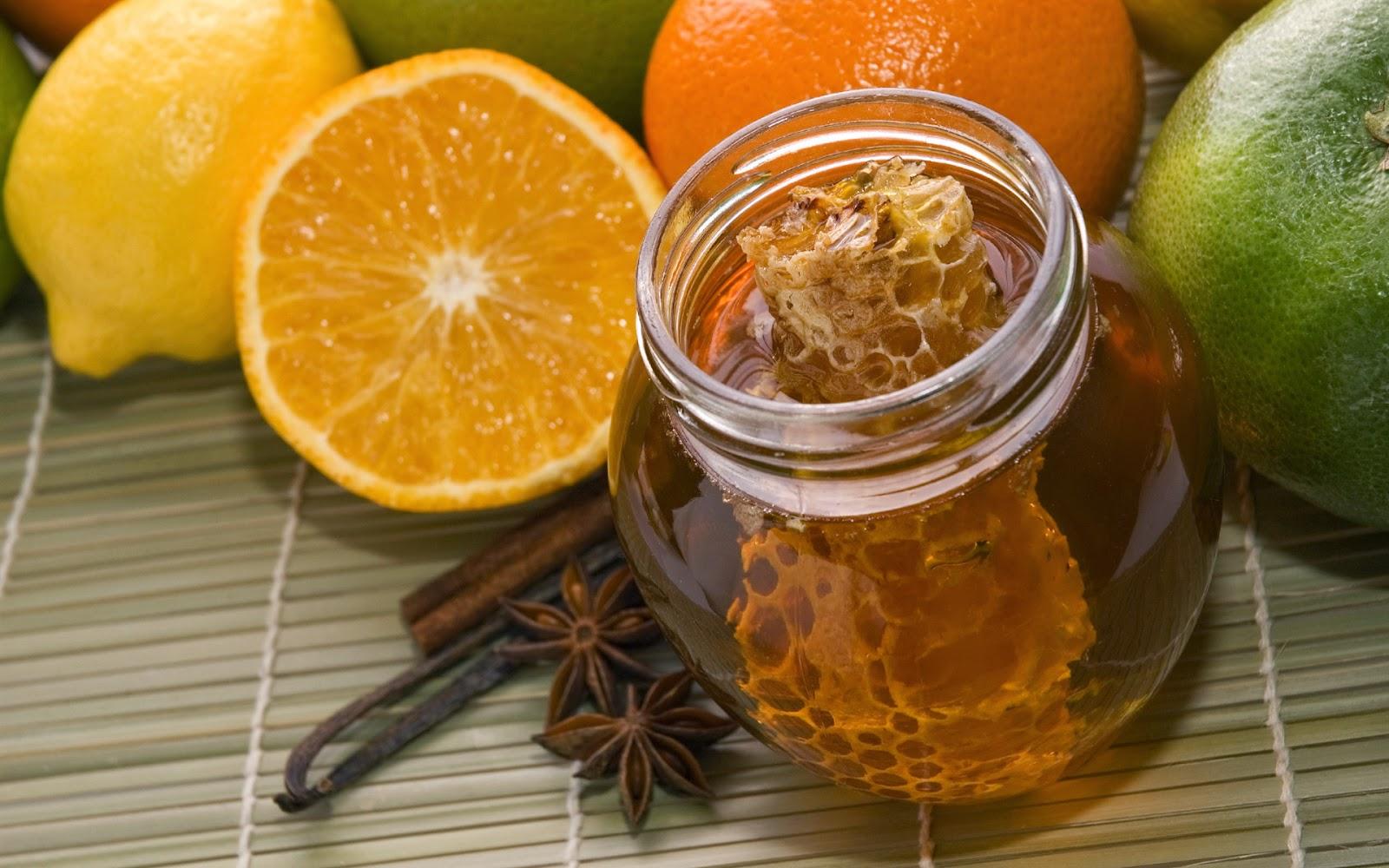 ماسك البرتقال والعسل