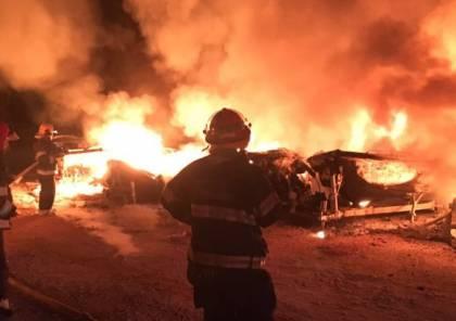 اخماد حريق داخل مصنع للعصائر في قلقيلية