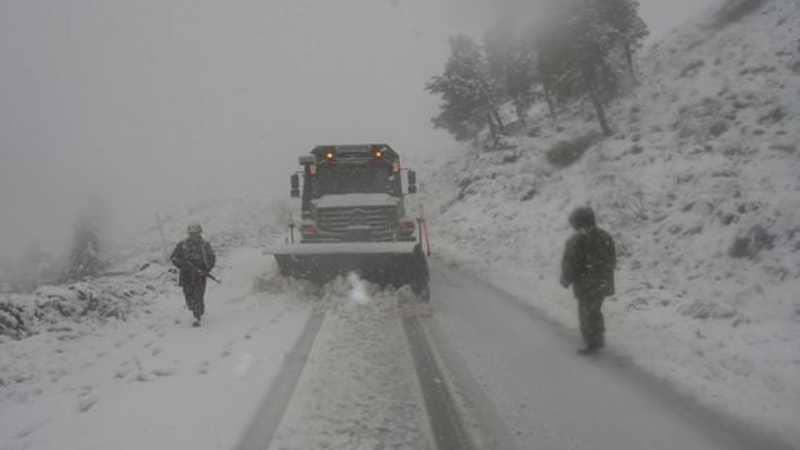 الثلوج تغلق عشرات الطرق في الجزائر.. والجيش يتدخل