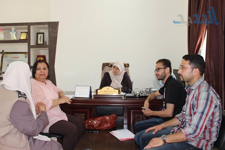 وفد من مؤسسة الضمير يزور مركز تأهيل وإصلاح النساء بغزة لمناقشة عدد من الاشكاليات التي تواجه النزيلات .